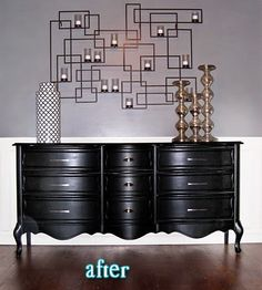 Better After: Black, Black, Black - furniture reno's