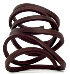 "Gustav Reyes: ""The Organic Coil"" bracelet  wood. available in walnut"