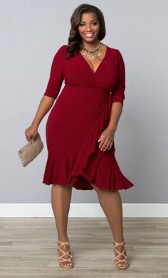 Plus Size Wrap Dress {affiliate link}