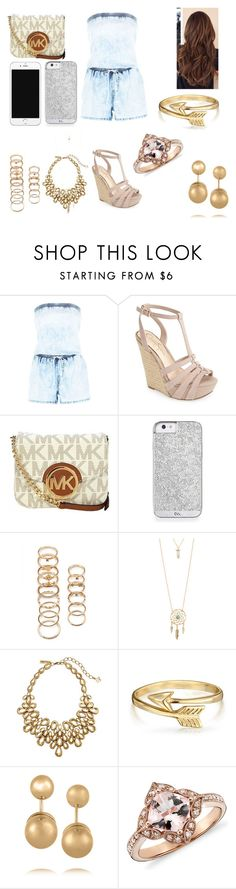 """""""Untitled #241"""" by dougherty-jenny ❤ liked on Polyvore featuring Jessica Simpson, Michael Kors, Forever 21, Aéropostale, Oscar de la Renta, Bling Jewelry, Kenneth Jay Lane, women's clothing, women and female"""