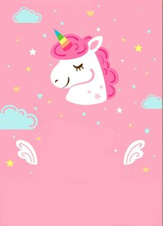 Wallpaper unicórnio Unicorn Drawing, Unicorn Art, Cute Unicorn, Rainbow Unicorn, Unicornios Wallpaper, Rainbow Wallpaper, Kawaii Wallpaper, Pastel Wallpaper, Unicorn Birthday Invitations