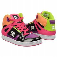 Athletics DC Shoes Kids' Rebound Pre/Grd Hot Pink Shoes.com