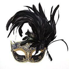 Sexy Princess Venetian Masquerade Party Feather Eye Mask