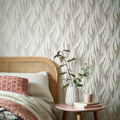Metallic gold tones warm up modern wallpaper and add a touch of luxury to easily elevate any space. Feature Wallpaper, Modern Wallpaper, White Wallpaper, Living Room Tv, Gold Pattern, Dark Colors, Interior Styling, Wall Decor, Metallic Gold