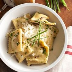 Next time you're craving Italian, try making your own mushroom ravioli filling. Dried porcinis and fresh mushrooms join forces to give this mushroom pasta loads of earthy flavor.
