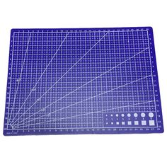 Linee della Griglia A4 tappetino di Taglio Carta Del Mestiere Tessuto Pelle Cartone 30*22 cm Blu
