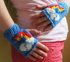 MLP fingerless gloves - Sam would love these!
