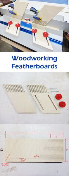 Featherboards are like extra sets of hands in the wood shop. They are generally used to hold smaller work pieces safely in place while feeding the work piece to the blade, typically for applications on router tables and table saws.