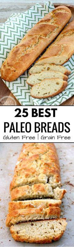 Best Grain free bread recipes! Paleo french bread. Easy to make sandwich bread. Delicious healthy bread recipes that are easy to make!