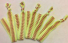 Softball Baseball Headband Set, Elastic headband, Sport Hair Band, softball ponytail, softball headband, party favor, sports team, girls on Etsy, $2.25