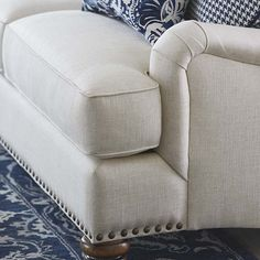 Essex Sofa by Bassett Furniture with optional nail head trim.
