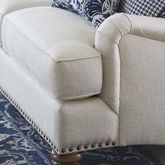 Essex Sofa by Bassett Furniture with optional nail head trim.