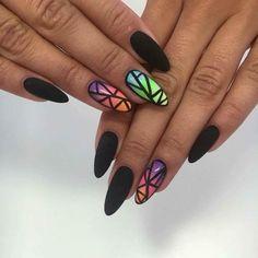 by Sonia, Madelaine Studio, Indigo Wroclove #nails #nail #black #matt #indigo…