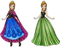 Color renderings of Disney's Frozen Elsa and Anna dolls by Hasbro. Elsa And Anna Dolls, Frozen Elsa And Anna, Disney Frozen Elsa, Disney Style, Disney Love, Blythe Dolls, Girl Dolls, Elsa Anime, Frozen Dolls