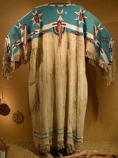 Yankton Dakota (Sioux) Two-Hide Pattern Dress with Fully Beaded Yoke
