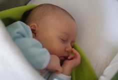 Infant girl sleeping peacefully