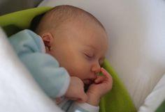 Infant girl sleeping peacefully