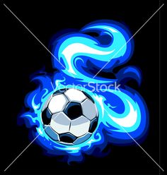 Buy Burning Soccer Ball by Vecster on GraphicRiver. Burning soccer ball on black background. Best Football Players, Football Art, Play Soccer, Soccer Ball, Soccer Party, Free Vector Images, Vector Free, Messi Gif, Shark Logo