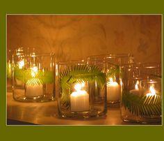 Lovely fern leaf candles