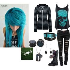 i like NEED this outfit hair color and all<3