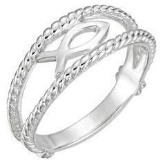 Style and meaning meet in this Ichthus Jesus Fish chastity ring for women crafted in white gold, from Apples of Gold Jewelry. Diamond Wedding Rings, Diamond Engagement Rings, Fisher, Shop Engagement Rings, Christian Jewelry, Cristiano, White Gold Diamonds, Sterling Silver Jewelry, Gold Jewelry