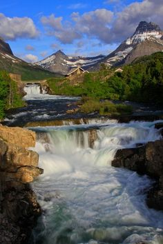 Swiftcurrent Falls, Many Glacier Area, Glacier National Park; photo by Joseph Urgo on 500px