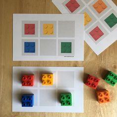 ¡Este juego de patrones es súper divertido! Con este juego los niños desarrollan destrezas lógico-matemáticas, la coordinación visual-espacial y la motricidad fina. Imprime gratis estas tarjetas en www.mombricks.com. #playmatters #mombricks #learningthroughplay #lego #instagood #momlife #momblogger #math #legophotography #prek #preschool #ece #education #parenting #homeschool #legoland #legomania #legoduplo #legostagram #afol #teachersfollowteachers