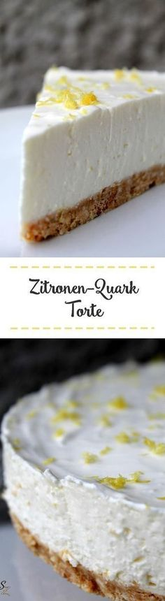 Zitronen-Quark-Torte Vanilla Cake, Bakery, Cheesecake, Desserts, Food, Cooking Food, Recipes, Cooking, Waffles