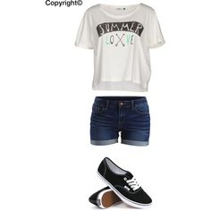 Summer love/shorts/vans outfit by amberpend on Polyvore featuring polyvore, fashion, style, ONLY, VILA and Vans