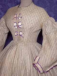 Civil War era cotton dress