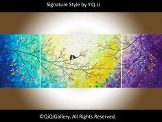Art painting 72  Huge Abstract Impasto painting by QiQiGallery