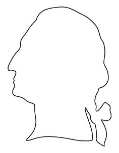 George Washington hat pattern. Use the printable outline