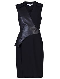 ALEXANDER WANG Leather vest dress