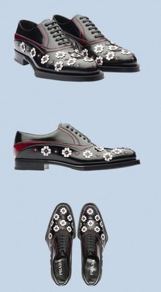 5c75013065 The man wearing these shoes is one of my sole soul mates. Prada Leather  Flower Loafers