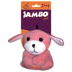 Brinquedo para Cachorro de Pelúcia Cachorrinho Mini Rosa Jambo Pet - MeuAmigoPet.com.br #petshop #cachorro #cão #meuamigopet