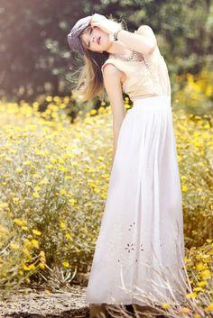 Turban beauty. #turban #flowers #white #long #skirt #beautiful #fashion