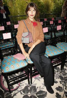 Le premier rang du défilé Gucci: Jeanne Damas © Indigital Images