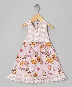 Take a look at this Rose Couture Bird Halter Dress - Toddler & Girls by Beary Basics on #zulily today!
