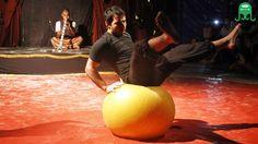Yoga ball balance - Jerônimo Ali - 3ª convenção praiana de malabarismo