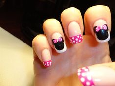 Alana would love if I could pull this off Minnie Inspired By - Nail Art Gallery by NAILS Magazine Love Nails, Pretty Nails, My Nails, Nail Art Design Gallery, Nail Art Designs, Art Gallery, Nails Design, Minnie Mouse Nails, Pink Minnie