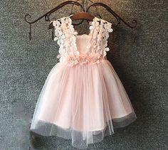 Pink flower girl dress tulle toddler dress wedding by MJfordiva More
