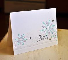 Season's Greetings Card by Maile Belles for Papertrey Ink (October 2014)