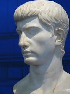 Portrait of an older Marcellus nephew and heir of Roman Emperor Augustus 1st century BCE