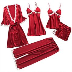 Sanyalei✤ Women Plus Size Lace Teddy Sleepwear Halter Plunging One-Piece Lingerie Set Bodysuit