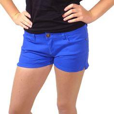 Blue Women Shorts