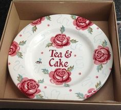 Personalised Rose & Bee 8.5 inch Plate