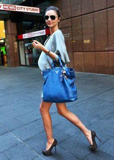 Love the blue Pravda bag