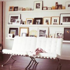 Photo ledges for big, blank walls
