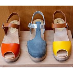our new clogs have arrived! hurray #lottafromstockholm #clogs