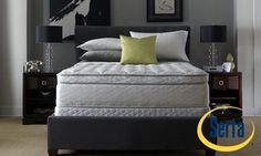 Groupon - Closeout: Serta Perfect Sleeper Hotel Sapphire Suite Super Pillowtop Mattress Set. Free White Glove Delivery. Groupon deal price: $449.99